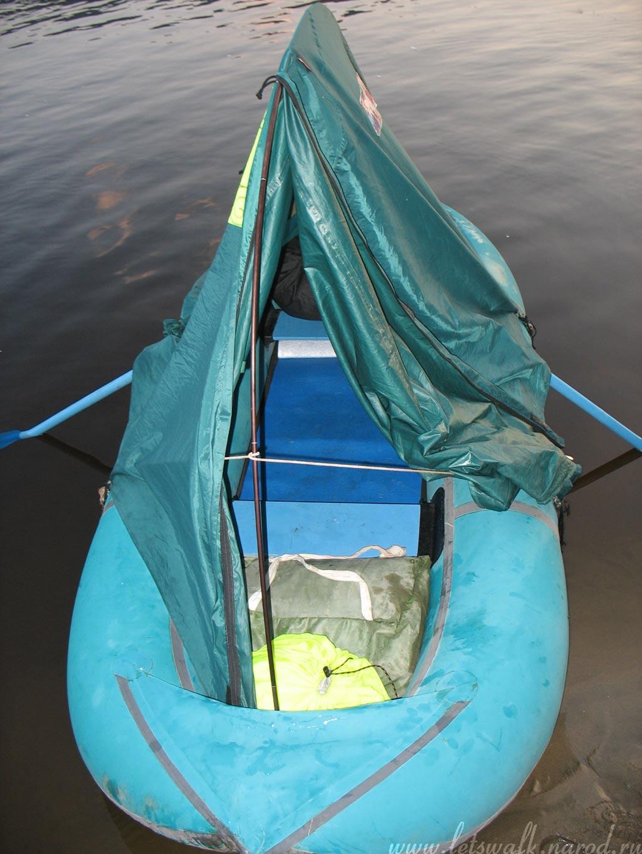 ночевка в лодке пвх